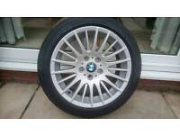 """Bmw 17 """" alloys and tyres"""