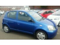 2001 TOYOTA YARIS GLS 998CC MOT TILL 8TH AUG 18 TRADE IN TO CLEAR, CLIO,MEGANE,
