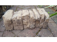 Stone effect garden wall blocks/bricks and edging