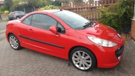Peugeot 207 convertible Red