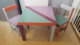 Upcycled childs table & chairs