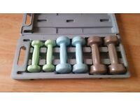 6kg handweight dumbell set