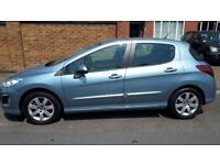 PEUGEOT 308 EXCELLENT CONDITION. LIGHT BLUE 308, IMMACULET CONDITION