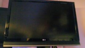 LG Full HD 42 inch TV (37 inch screen) for parts (damaged)