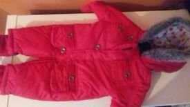 never worn all in one coat from mothercare