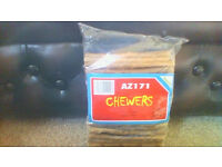 BRAND NEW - 300 rawhide dog chews, 3 sealed bags of 100 each