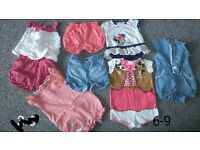 girls summer bundle 6-9 months