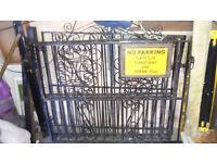 Decorative wrought iron gates 2 sets