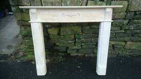 Wooden fire place surround