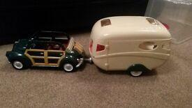Silvanian family caravan and car