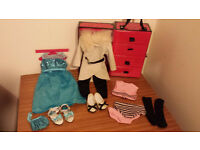 Chad Valley designa friend doll 'wardrobe outfits and accessories'