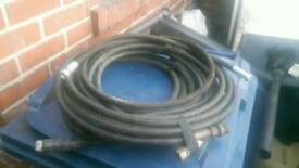 Rubber jet wash hoses