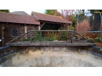 wooden bridge for pond fro sale