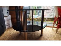 Black glass coffee table or tv stand