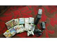 Xbox 360 complete console with 12 games 120gb hard drive with two controllers