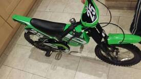 Kids motor cross style bike