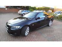 2011 BMW 320D E92 COUPE ,BLACK , AUTO,LCI ,M SPORT, 50K MILEAGE , SATNAV , HARMAN KARDON ,HIGH SPEC