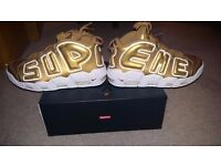 Nike Air More Uptempo x Supreme (Suptempo) Size 10 Gold -- IN HAND