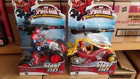 2 Ultimate Spiderman Blast And Gos!! Spiderman Quadbike and Iron Spider!!
