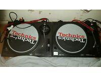 Technics sl 1210 mk2 pair and numark m101 mixer