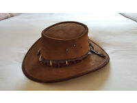 Waratah Crocodile Dundee Leather Hat