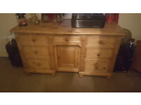 Antique solid pine draws/sideboard