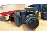 Pentax SFXn 35mm Film Camera in good condition with lenses