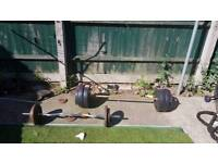 100kg weights with bars