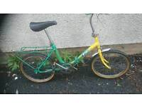 APOLLO LADIES, FOLDING ROAD BIKE, FITS ANY SIZE ADULT,,, 20 INCH WHEELS,3,GEARS,, VGC