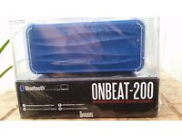 Bluetooth portable speaker in Blue. Brand New still in packaging.