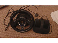 Driving wheel ps1 ps2 playstation with pedals