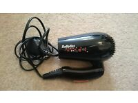 BaBybliss Hair Dryer- nearly new - great for travel!