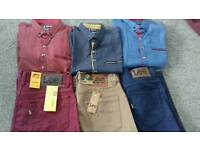 Mens jeans and shirts