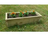 Handmade wooden garden planter