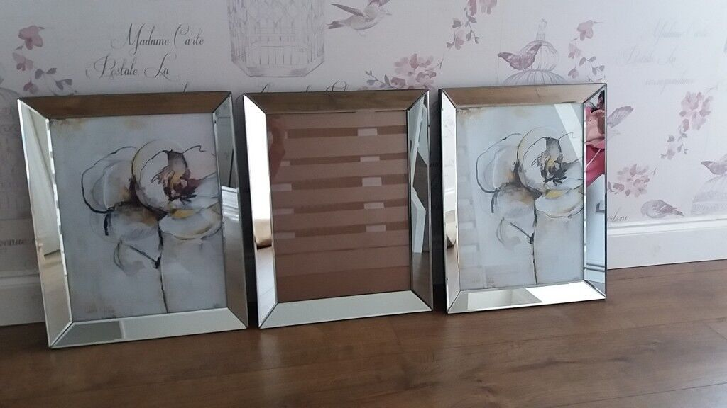 Stunning large mirrored photo frames x3 | in Plymouth, Devon | Gumtree