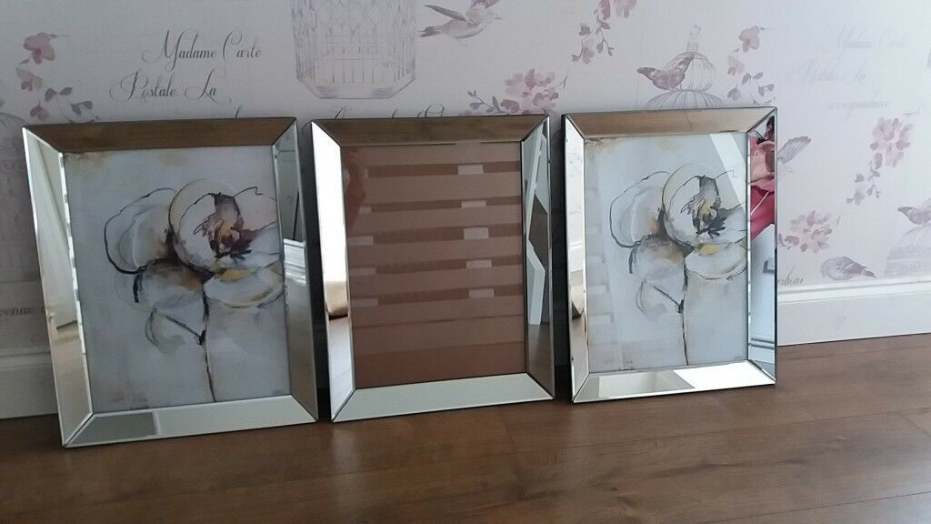 Stunning Large Mirrored Photo Frames X3