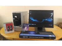 ***Fast SSD Asus I3 Home Business PC Desktop Computer PC Tower & 21 Widescreen LCD