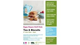 Free Tea & Biscuits Morning 6th June!