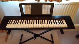 YAMAHA PIAGGERO NP11 KEYBOARD WITH Cover carry Bag