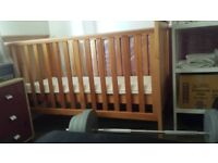 70ono Cot Bed With Mattress and Anti Chew Protected Bars