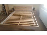 double bed frame + 2 bedside cabinets