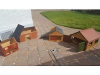 Set of wooden houses for child