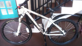 Charge Cooker Mountain Bike. 29er. White/Black. Good Used Condition.