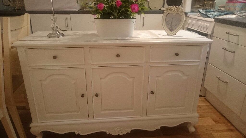 Stunning shabby chic french chateau large sideboard/unit
