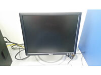 Dell and HP monitors 17'' - fully working with cables - DVI and VGA, usb on the side