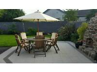 Garden furniture patio set table and 6 chairs