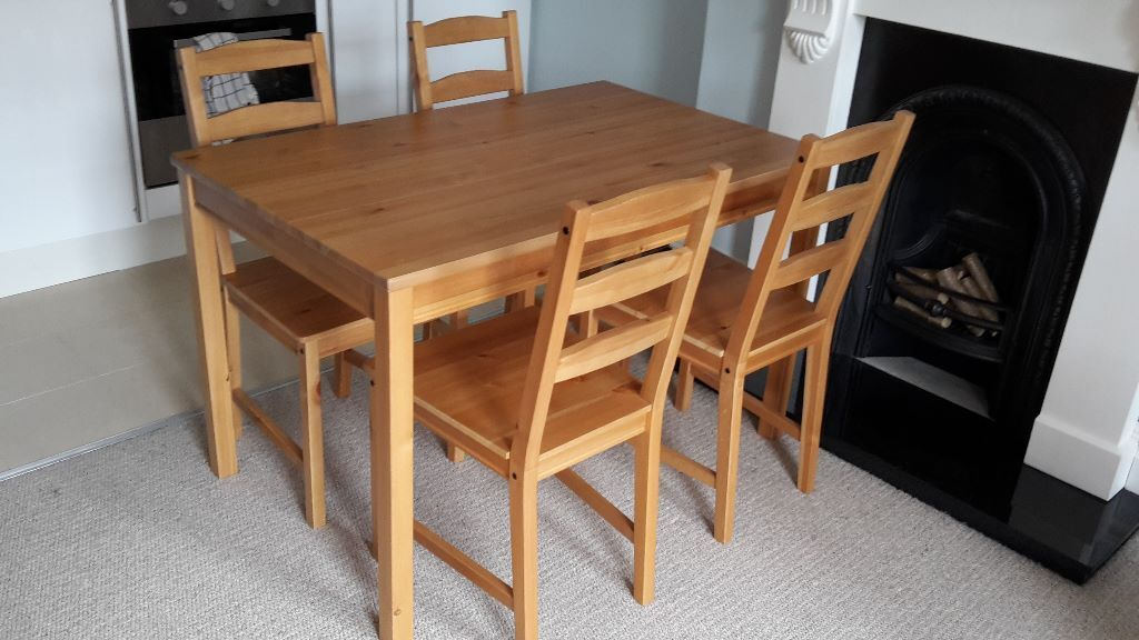 Dining Table 4 Chairs Set Jokkmokk Ikea Collection Only