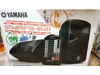 Yamaha Stagepas 400i PA System Speakers with covers, stand and Mic