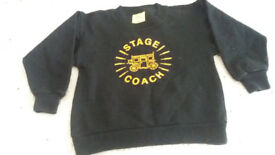 Childs sweat shirt for 'Stage Coach' theatre club,black size26