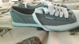 Superdry size 4 grey trainers